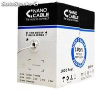 Bobina de cable red RJ45 cat.5E ftp rigido AWG24, 305 m Cobre Nanocable