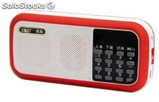 bocina portatil MP3 USD TF FM radio bateria recargable Q27