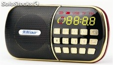bocina portatil MP3 USD TF FM radio bateria recargable Q28