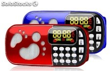 bocina portatil MP3 USD TF FM radio bateria recargable Q83