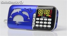 bocina portatil MP3 USD TF FM radio bateria recargable Q87