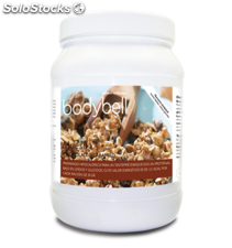 Bodybell bote muesli chocolate y caramelo 450 grs.