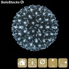 Bola 100 luces LED blanco 11,50x11,50x11,50cm