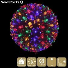 Bola 100 luces LED multicolor 11,50x11,50x11,50cm