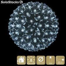 Bola 200 luces LED blanco 18,50x18,50x18,50cm