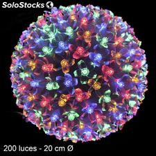 Bola 200 luces LED multicolor 20x20x20cm