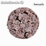 Bola metal flor color cobre - colección art & metal by homania