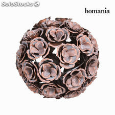 Bola metal flor color cobre en - Colección Art & Metal by Homania