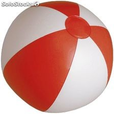 Bola praia. White/red