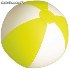 Bola praia. White/yellow