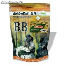 Bola Pvc Para Armas Airsoft Golden Ball Biodegradable Precision 6 Mm 0.30 Gr En