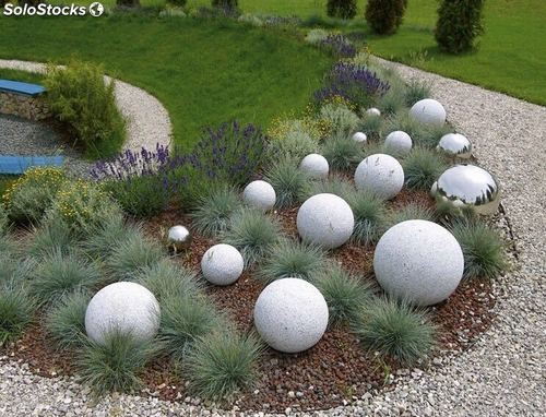 Bolas de piedra natural decoraci n de jardines patios for Jardines en piedra natural