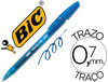 Boligrafo bic cristal clic gel retractil color azul 0,7MM