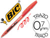 Boligrafo bic cristal clic gel retractil color rojo 0,7MM