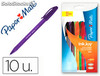 Boligrafo paper mate inkjoy 100 punta media trazo 1 mm pack 10 colores surtidos