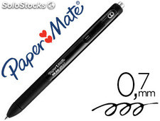 Boligrafo paper mate inkjoy retractil gel pen trazo 0,7 mm negro