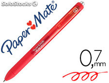 Boligrafo paper mate inkjoy retractil gel pen trazo 0,7 mm rojo