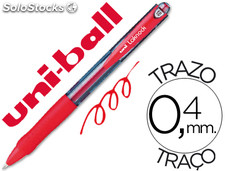 Boligrafo uni-ball laknock sn-100 retractil color rojo