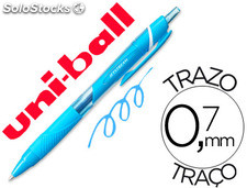 Boligrafo uni-ball roller jetstream sxn157c retractil 0,7 mm color azul claro