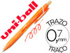 Boligrafo uni-ball roller jetstream SXN157C retractil 0,7 mm color naranja