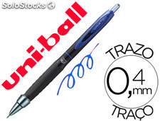 Boligrafo uni-ball roller umn-307 retractil 0,7 mm tinta gel azul