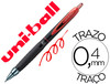 Boligrafo uni-ball roller umn-307 retractil 0,7 mm tinta gel rojo