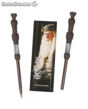 Boligrafo y Marcapaginas Harry Potter Dumbledore