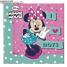 Bolsa 20 servilletas minnie dots