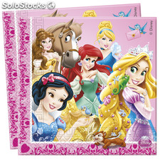 Bolsa 20 servilletas princess animals