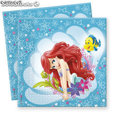 Bolsa 20 servilletas the little mermaid