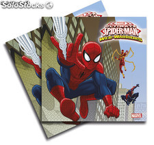 Bolsa 20 servilletas ultimate spiderman