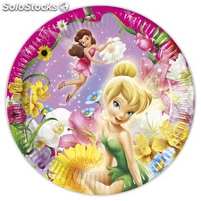 Bolsa 8 platos 23 cm fairies magic