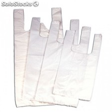 Bolsa camiseta oxo-biodegradable 40/27x50 cm blanco pehd