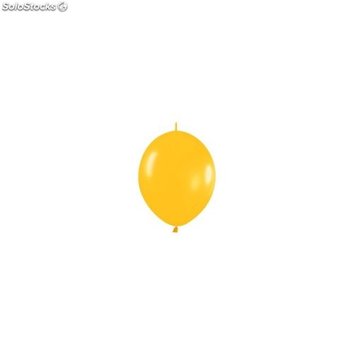 Bolsa de 50 globos sempertex r6 de 15 cm link-o-loon color metal amarillo (520)