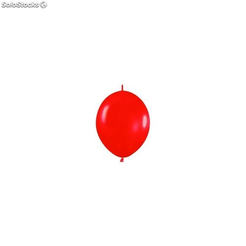 Bolsa de 50 globos sempertex r6 de 15 cm link-o-loon color metal rojo (515)