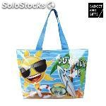 Bolsa de playa emoticonos summer time gadget and gifts
