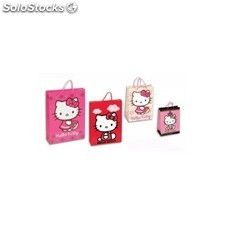 Bolsa Hello Kitty De Papel 12 Und.33x24.5x13.5cm.