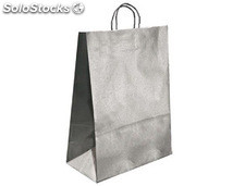Bolsa kraft q-connect plata asa retorcida 270x120x360 mm