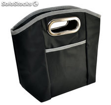 Bolsa lady lunch box negro/plata