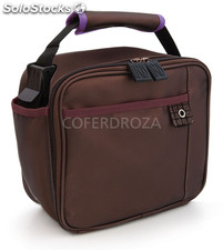 Bolsa mini lunchbox chocolate iris 18,5X21X11
