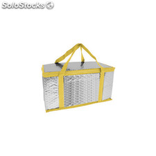 Bolsa nevera rectangular aluminio amarillo