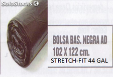 Bolsa para basura stretch-fit negra
