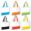 Bolsa playa beach non woven bicolor color blanco/azul
