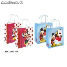 Bolsa regalo kraft, disney, -mickey - minnie-, m