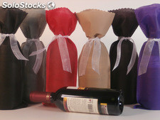 Bolsas para botellas de vino de 37,5 cl con lazo 6 colores disponibles