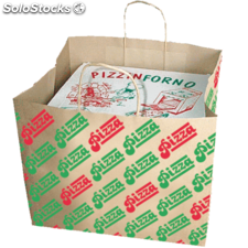 Bolsas sos cajas pizza 36/31,5x36 cm natural kraft