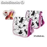 Bolso bandolera coloreable 4 rotuladores, disney, -minnie-