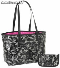 "Bolso con billetera moos black""camo"""