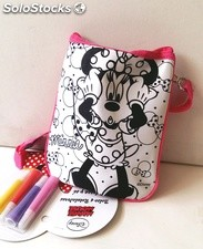 Bolso Minnie Mouse Coloreable DISNEY + 4 Rotuladores