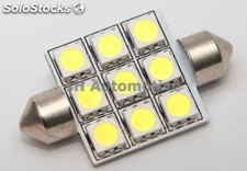 Bombilla led c5w festonn 9 SMD 31, 36, 39 y 41mm Interior / Matrícula / Etc